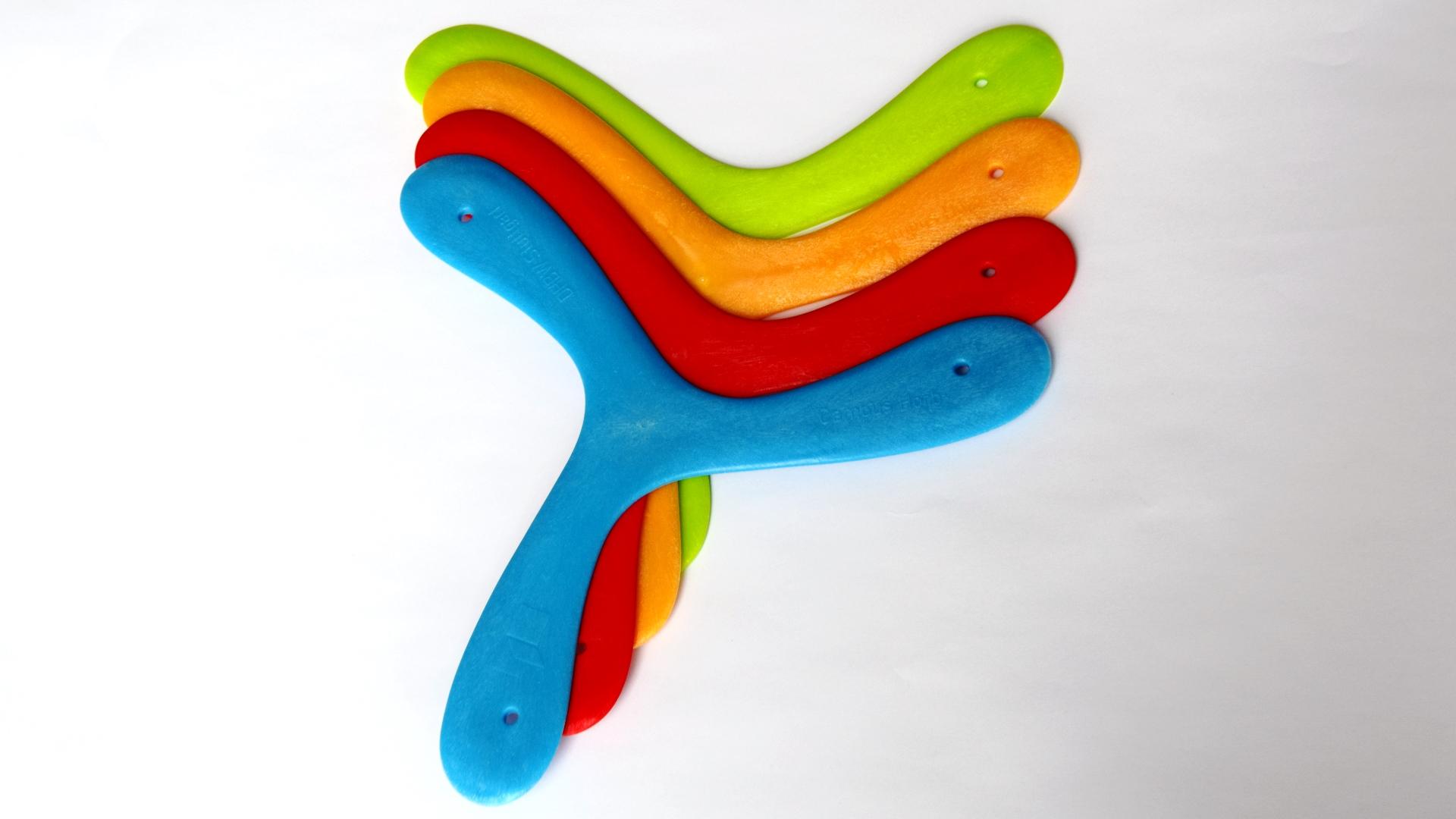 Bumerangs aus Polyproylen